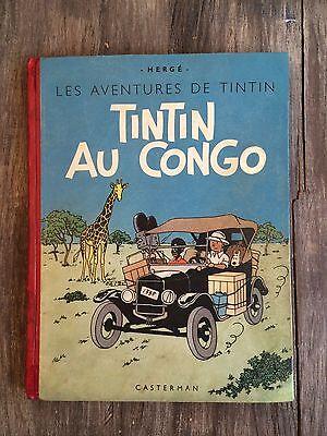 TINTIN - TINTIN AU CONGO - N/B  - 1942 - A18 - BE+