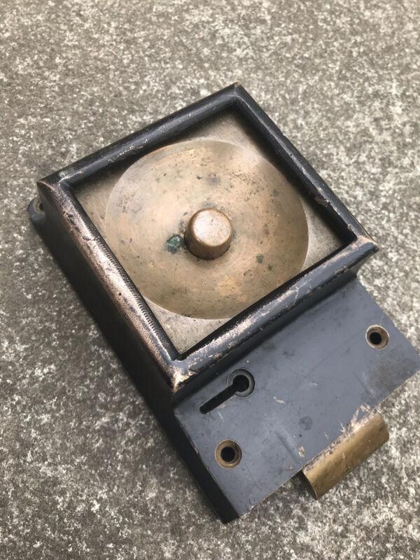 Antique Original Push Button Realease Lock