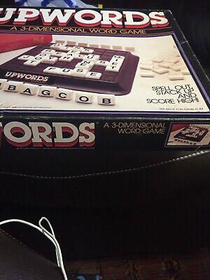 Vintage 1984 Upwords Complete Game ~ Family Word Board Game Original Parts