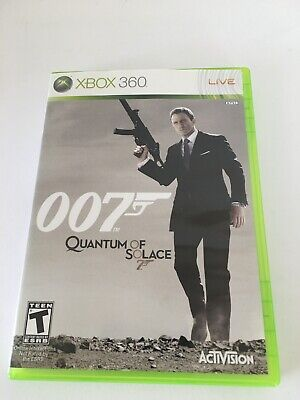 James Bond 007: Quantum of Solace (Microsoft Xbox 360, 2008) Used Very Good Cond