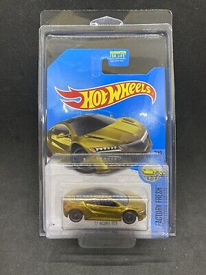 Hot Wheels 2016 '17 Acura NSX Metallic Gold Super Treasure Hunt TH Rare HTF New