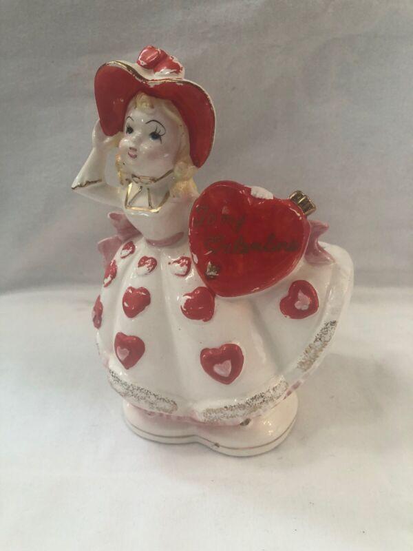 """Rubens 6166V Valentine Girl Planter """"To My Valentine"""""""