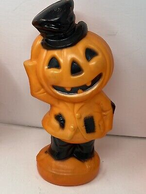 Vtg Empire Plastic Lighted Jack O Lantern Pumpkin Blow Mold Halloween NO CORD