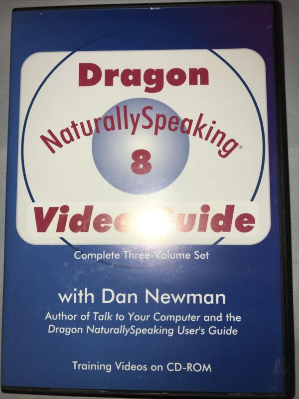 Dragon Naturally Speaking 8 Training Video Guide ~ Complete 3 Volume CD-ROM Set