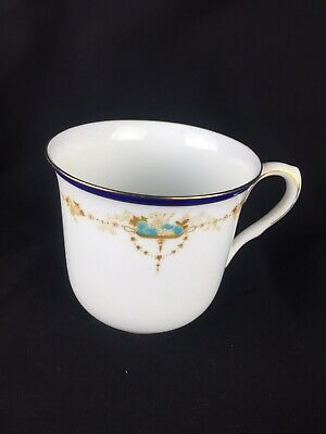 Old Vintage Antique Shelley China Tea Cup White Blue Gilded D11422 for sale  Shipping to South Africa