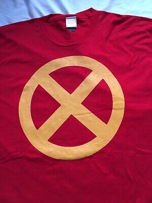 x-men symbol 2XL tee red Marvel Xavier's School Gifted Youngsters FREE - Xmen Symbol