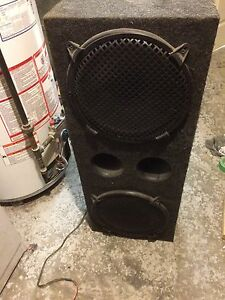 "Orion 12"" subs in box with AMPS"