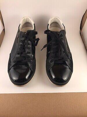 Mens Fendi Patent Leather Sneaker. High End Italian Fashion. Size 9