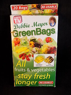 Debbie Meyer Green (DEBBIE MEYER GREEN BAGS NEW Set of 6 STAY FRESH BAGS REUSABLE Open Box)