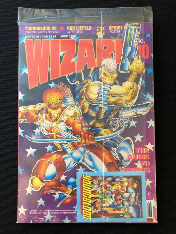 Sealed Wizard Guide to Comics #10 Magazine Spiderman Poster Card Liefeld 1992