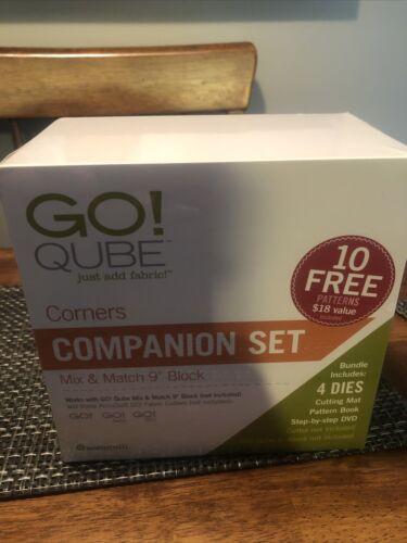 Accuquilt GO QUBE Dies Mix/match 9 Corners Block Companion Set SEALED - $120.00