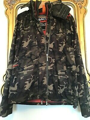 Mens SUPERDRY Camouflage WINDCHEATER Hooded JACKET Size XL