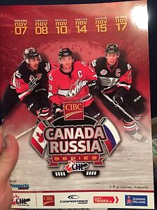 Canada Vs. Russia Program And Insert Pages!!