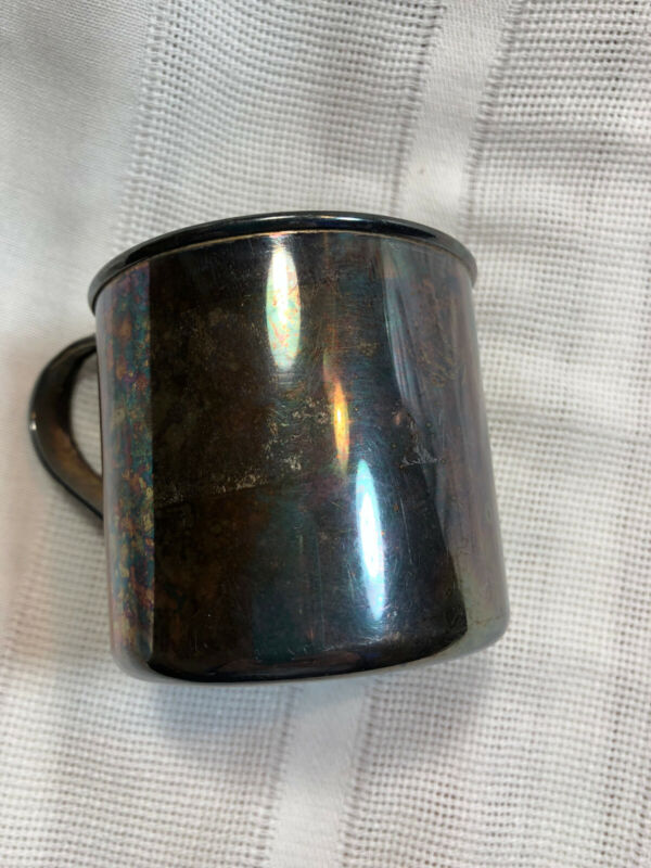 Vintage WM Rogers & Son Silver Plated Baby Cup