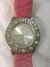Guess Diamonte  Watch with leather band Kellyville The Hills District Preview