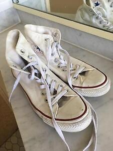 White High Top Converse Wollstonecraft North Sydney Area Preview