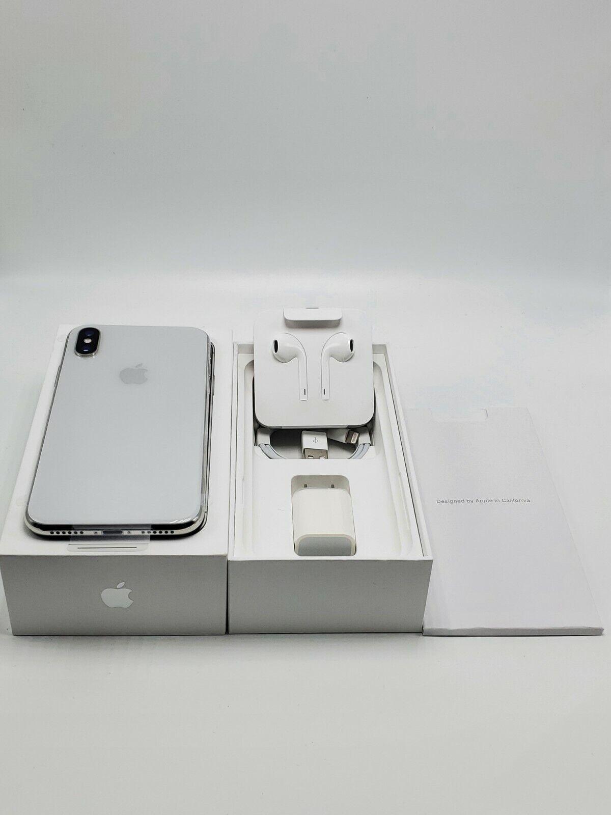 NEW Apple iPhone X - 256 GB - GSM+CDMA Unlocked - Silver A1865 1