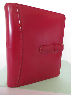Franklin Covey Smooth Dark-red Leather Compact Planner 6 Ring- 1 Binder Nice
