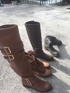 Assorted women's boots.