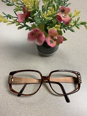 Vintage LAURA BIAGIOTTI Bronze Rose Gold Metal Large Sunglasses Glasses (Laura Biagiotti Glasses)