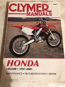 1997-2001 Honda CR250R manual, maintenance, repair etc $20