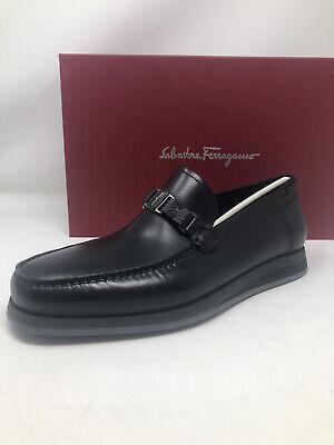 New Salvatore Ferragamo Mens Black Shoes Size 9.5 EE Fits A 10 US 9 UK 43 EU
