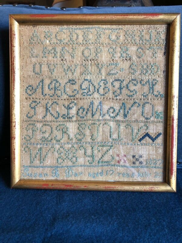 Antique Marking Sampler Worked by Susan B. Day 1827