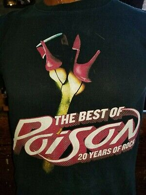 POISON The Best of Poison 20 Years of Rock black small t-shirt, US rock band