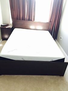 3 months old Queen size bed set with memory foam mattress