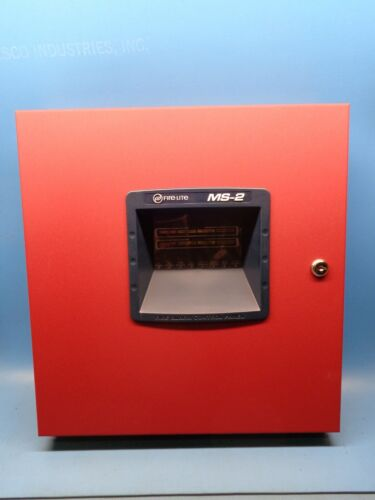 (1) MS-2 FIRELITE HONEYWELL Two Zone Conventional Fire Alarm Control Panel
