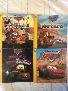 7 Pixar Cars & 1 Star Wars books in French