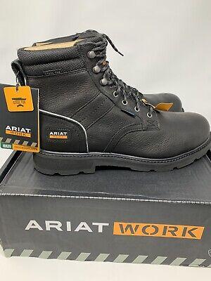 II H2O Steel Toe Work Boots Black Size