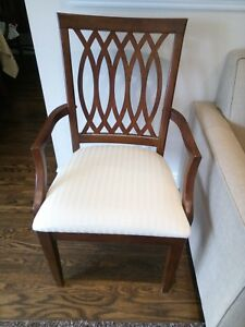 Set of eight Shermag dining chairs (solid wood)