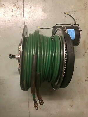 Hurst Jaws Of Life 5000psi Hose Reel Tested Electric Rewind Whose 100ft