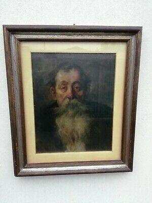 Orlow Oil on Canvas Old with the Beard 53x43cm Portrait 1952 Gallery - Beaver