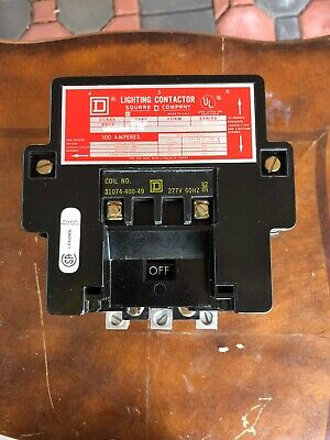 Square D 8903SQO2V04 Lighting Contactor, 100 Amp, 3pole 277 Volts  coil new