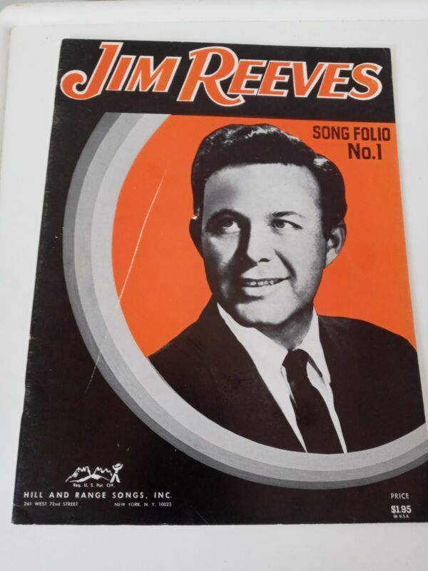 Jim Reeves Song Folio. No.1 sm. Scratch on cover