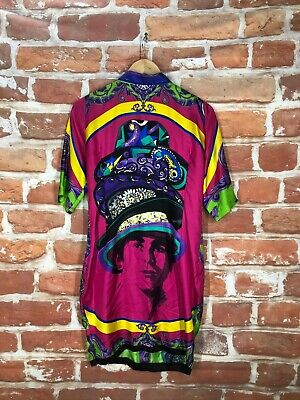 Gianni Versace IT 52 US 42 6/8 Silk Vintage 92' Baroque Medusa Print Greek Dress