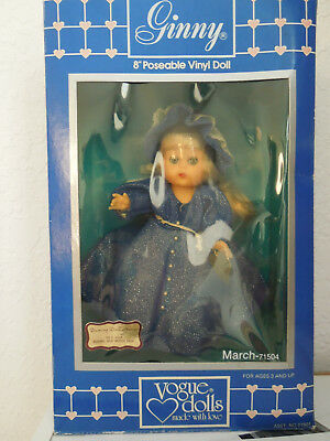 """vintage NIB 1984 Ginny doll Collectible Vogue March 8"""" Poseable Vinyl 71510"""