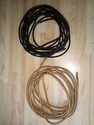 Elastische Schnürsenkel rund 120 cm, schwarz und braun, Schuhsenkel elastisch
