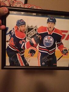 Ryan Smyth Nugent-Hopkins dual Autograph 8 X 10 Oilers
