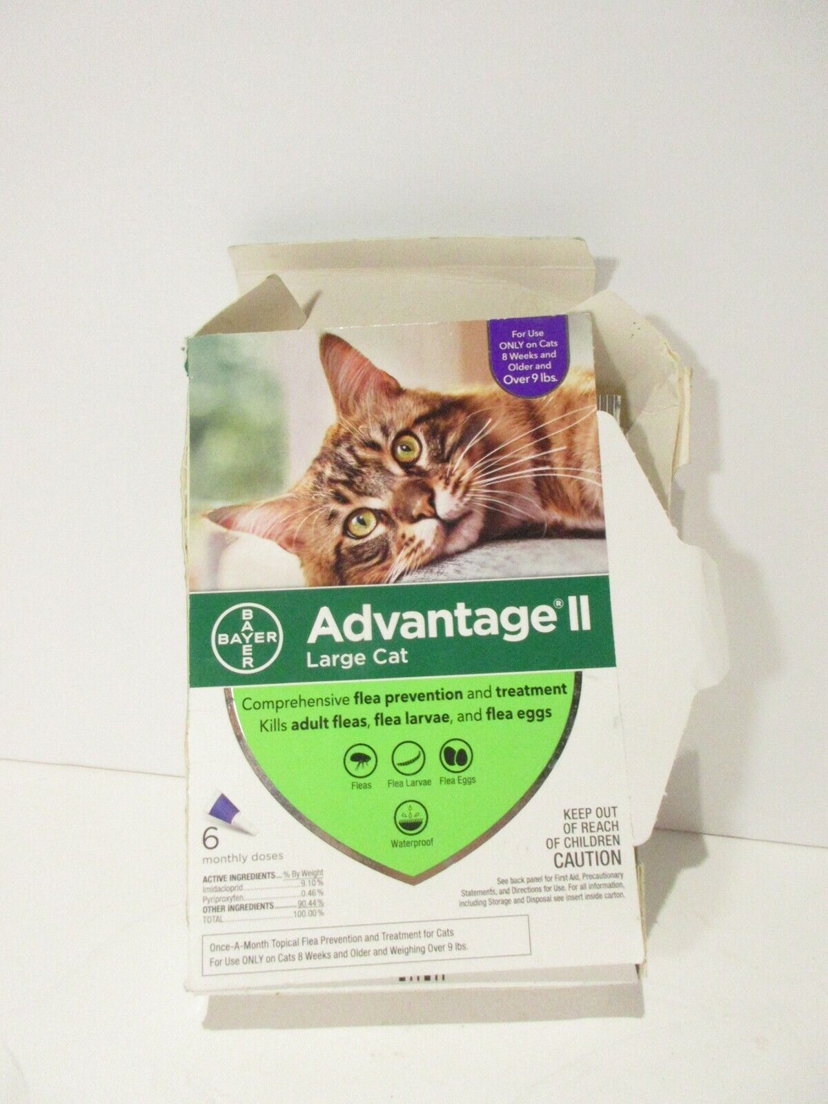 Advantage II Flea Prevention For Large Cats Over 9lbs 6 PACK READ MORE - $25.99