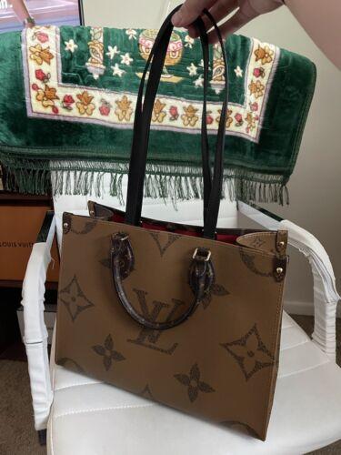 Louis Vuitton Onthego MM Reverse Monogram Tote Bag