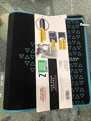 Five Star Zipper Binder 2 Inch 3 Ring Binder Expanding Pocketand Pencil Case