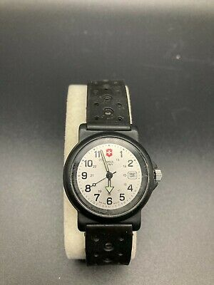 29 mm Victorinox Swiss Army Watch Black Resin Strap Water Resistant 30M