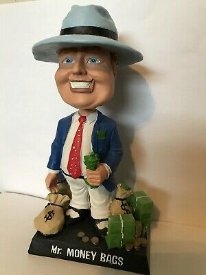 Mr. MoneyBags VGT Slot Machine Bobblehead Money Bags Casino Choctaw Winstar