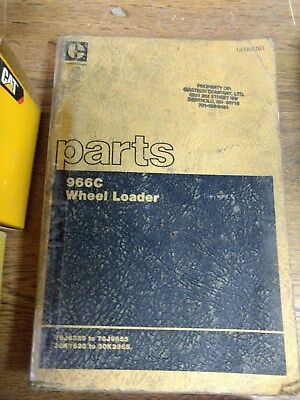 Cat Caterpillar 966c Wheel Loader Parts Book Catalog
