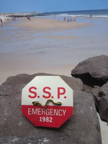 1982  SEASIDE  PARK  N J  SEASONAL EMERGENCY BEACH  BADGE/TAG    39  YEARS  OLD