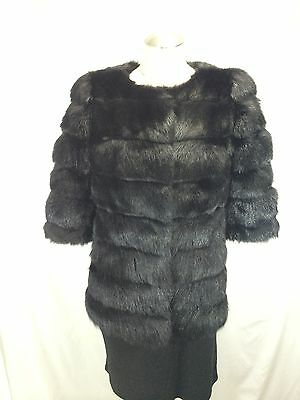 TOP DESIGN REAL RUSSIAN BLACK SABLE JACKET - ELEGANT, FASHIONABLE, EXPENSIVE