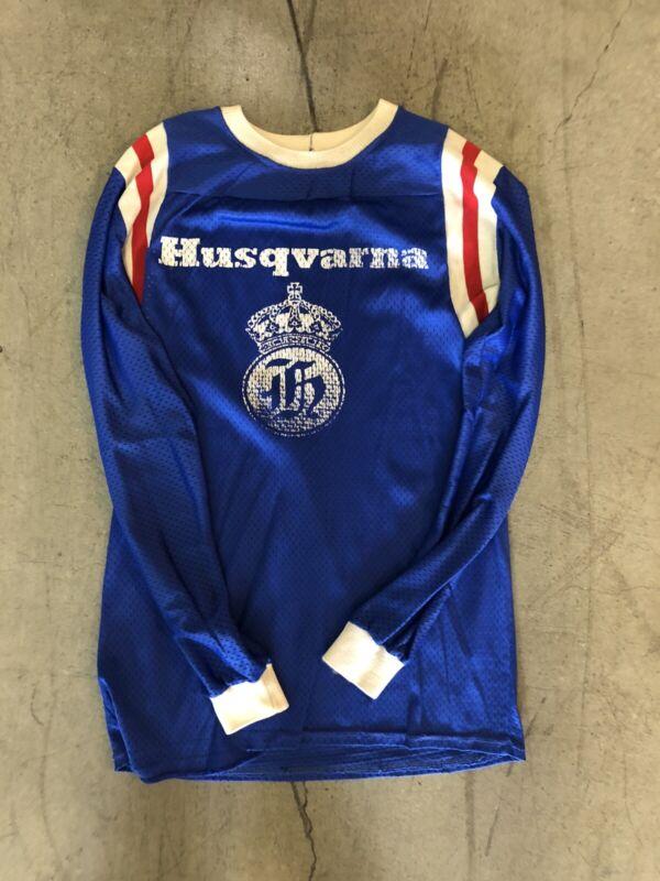 Vintage Husqvarna Motorcycle Long Sleeve Shirt. Size S